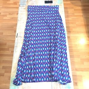Lularoe Arrow Print Maxi Skirt Large